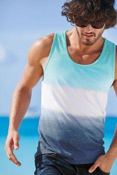 Buy Blue Dip Dye Vest from the Next UK online shop