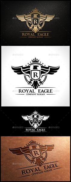 Royal Eagle Template Logo Design Template Vector #logotype Download it here: http://graphicriver.net/item/royal-eagle-template/9140245?s_rank=1049?ref=nexion