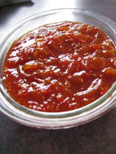 Tomato chutney made with a Thermomix
