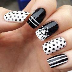 30 Adorable Polka Dots Nail Designs  <3 ! Nail Design, Nail Art, Nail Salon, Irvine, Newport Beach
