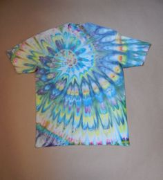 tie-dye tropical wave t-shirt XL by RosyMermaidArtworks on Etsy