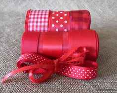 Ribbon Assortment  Pack   Red   nine yards by cottagecraftsonline, $7.95