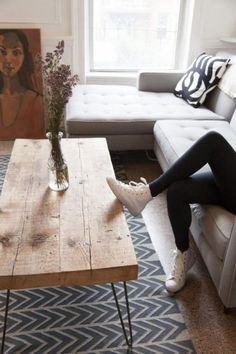 I really like this coffee table! Modern, but grounded.