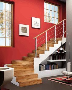 Ideas para aprovechar el espacio bajo la escalera