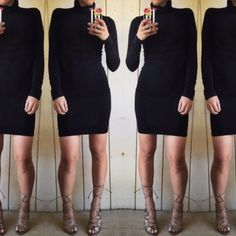 American apparel black turtleneck dress Super chic must have staple! Great condition! American Apparel Dresses