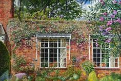 Stanley Spencer. Lilac and clematis at Englefield