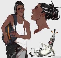 Personagens de Madagascar ganham versões humanas