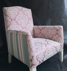Re-upholstered Armchair by PeacheyDesigns on Etsy Sanderson Fabric, Bespoke Design, Peaches, Wooden Frames, Armchair, Trending Outfits, Etsy, Furniture, Home Decor