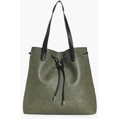 Boohoo Lucy Metal Detail Slouch Shopper Bag | Boohoo ($35) ❤ liked on Polyvore featuring bags, handbags, tote bags, khaki, shopper tote, slouch purse, slouchy tote bag, slouchy handbags and shopper tote handbags