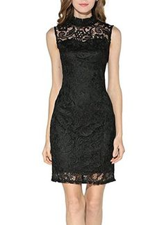 Searia Women High Neck Sleeveless Floral Lace Cocktail Clubwear Evening Dress Black S Searia http://www.amazon.com/dp/B01DU54K52/ref=cm_sw_r_pi_dp_GHmcxb1753XNC