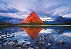 Grinnell Point, in Glacier National Park, Montana. Photo by Harry Lichtman.