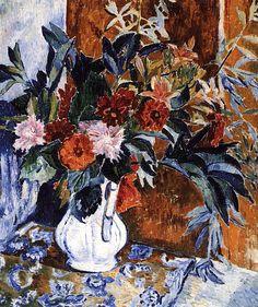 Dahlias, Natalia Goncharova - 1906