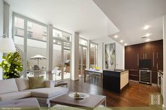 Spectacular Chelsea Duplex Apartment with an amazing garden space and three spacious bedrooms. You have to see the top of the line finishes throughout this home, Condo Living, Garden Spaces, Duplex Apartment, Home, Apartment, Trulia, Spacious, Empty Room, Interior Design