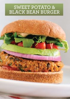 Sweet Potato and Black Bean Veggie Burger – a great substitute for ...