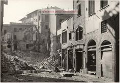 Via Vacchereccia a Firenze, dopo il bombardamento del 4 Agosto 1944 — a #Firenze.