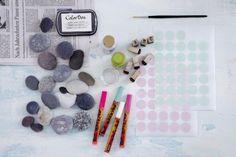 Materialien zum Steine bemalen