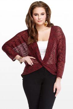 Plus Size Wrap Front Hacci Top | Fashion To Figure