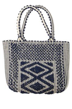 Liscia Tote by Antonello Handbags. Handcrafted by artisans in Sardinia from natural plant dyes and recycled cotton yarns.