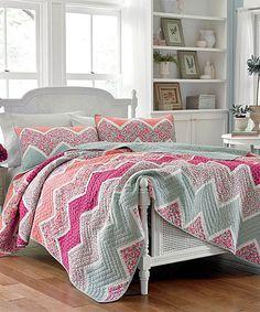 Look what I found on #zulily! Pink Ainsley Quilt #zulilyfinds