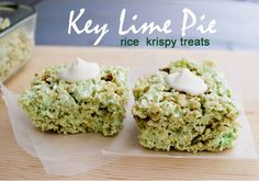 Mallow and Co: Key Lime Pie Rice Krispy Treats
