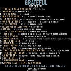 Cata só a tracklist e o time que o @djkhaled convocou pro seu novo álbum, o #Grateful! Passadooo! @beyonce; #JayZ; @drake; @badgalriri; @justinbieber; @chancetherapper; @aliciakeys; @nickiminaj; @calvinharris e por aí vai kkkkkkk O babado sai no dia 23 de junho!