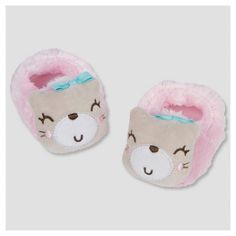 • 100% Polyester for softness<br>• Extra fuzzy slip-on booties<br>• Features a soft outsole made of durable polyester<br>• Adorable kitty applique<br>• Size comes in Newborn (0-6 Months)<br>• Machine washable<br>• Imported<br><br>Keep your little one's feet safe and cozy with Gerber®'s adorable Newborn Girls' Kitty  Velboa Bootie. Featuring a soft outsole made of...