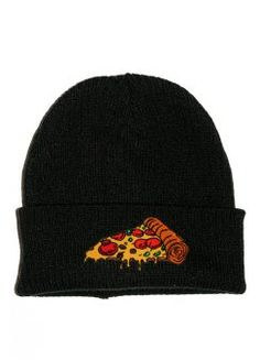 Melting Pizza Patch Beanie