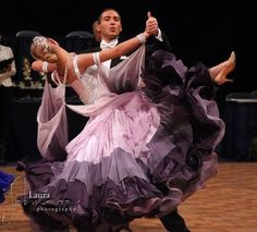 Lawrence Shulman & Dakota Pizzi | Manhattan Dancesport Championships 2013, Youth [tiered chiffon layers with cascading color effect] | More photos: http://laurajohnsonphotography.zenfolio.com/p14719382/h5890d7c2#h5894fcb6