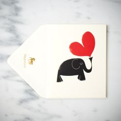 Elephant with Heart Letterpress Price $8.00