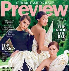 Elegant Lauren Uy, Tricia Gosingtian, and Camille Co Preview Magazine Cover