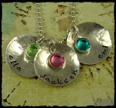 Personalized Stamped Jewelry Necklace  by rosecreekcottage on Etsy, $50.00