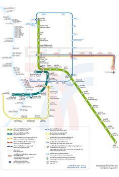 Bangkok BTS Map (Sky Train) - A guide to Bangkok's BTS and attractions close to the skytrain