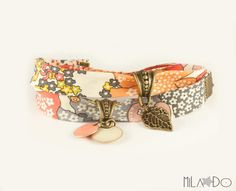 Girl flower  fabric Bracelet  Liberty of London bracelet by MiLaDo   I love this fabric, very boho. I have requested a custom made with silver clasp and stars