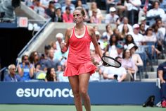 Roberta Vinci shows some emotion during the women's singles final at the 2015 US Open.