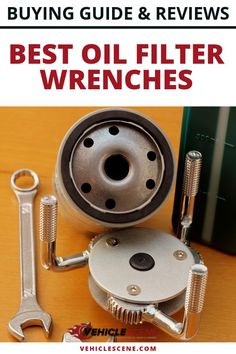 Learn how to choose the best oil filter wrench for your vehicle, and the different types available, with our buying guide and list of top recommendations Oil Filter, Filters, Cool Car Gadgets, Filter Wrench, Car Care Tips, Preventive Maintenance, Car Essentials, Car Tools, Flat Tire