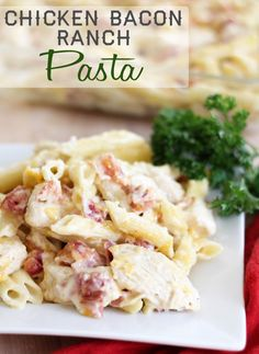 Cheddar Bacon Ranch Chicken Pasta