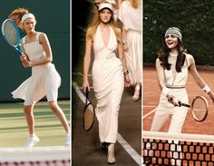 tennis style #wimbledon. love the look on the far right