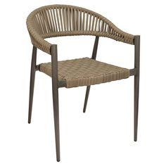 fiji arm chair in ash gray wicker outdoor restaurant furniture - Outdoor Restaurant Furniture