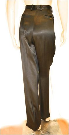 Giorgio Armani Pants Satin High Waisted Dark by ThriftHound2000, $35.00