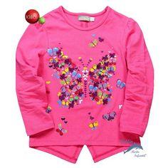Camiseta niña BOBOLI corte asimetrico mariposa