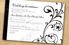Wedding Invitations | Black and White wedding invitations,