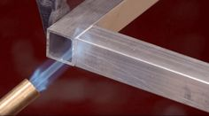 """How to """"Weld"""" Aluminum Without a Welder — Make Something.What's good with working with aluminum is the low melting temperature"""