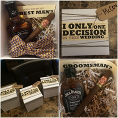 Our groomsman proposal boxes!