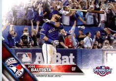 2016 Topps Opening Day #OD-187 Jose Bautista Toronto Blue Jays Baseball Card
