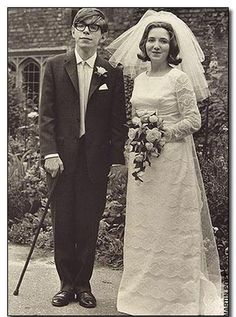 Stephen Hawking's wedding to Jane Wilde. 1965