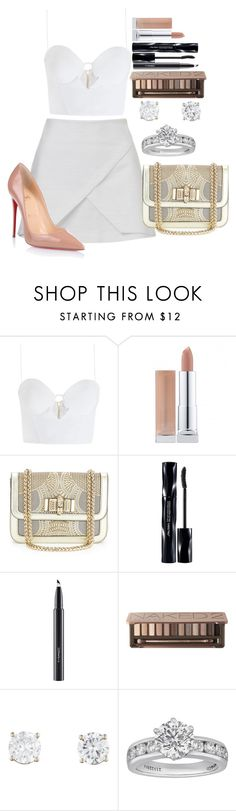 """Untitled #1259"" by fabianarveloc on Polyvore featuring Zimmermann, Christian Louboutin, Shiseido, MAC Cosmetics, Urban Decay and Tiffany & Co."
