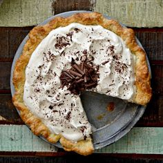Classic Chocolate Cream Pie and a Video Tutorial on How to Make a Butter Pie Crust By Hand