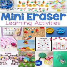 These are some easy ways to set up number bonds at home to practice math facts. You don't have to buy expensive math manipulatives- use mini erasers for this super easy math activity! The mini erasers make these learning activities super fun! Preschool Letters, Preschool Math, Kindergarten Math, Simple Math, Easy Math, Fun Math, Math Activities For Kids, Alphabet Activities, Number Activities