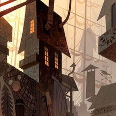 Cenários de Samurai Jack, por Scott Wills