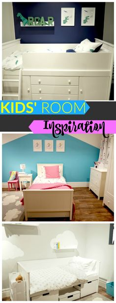 Kids' Room Inspiration from the Great Little Trading Company. Lots of ideas here for cool storage and colourful walls!